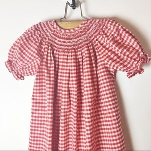 Smocked Auctions Dresses - Southern Living Smocked Auctions red gingham dress